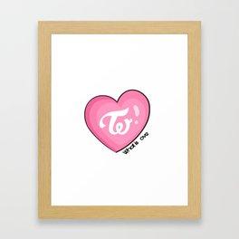 Twice what is love Framed Art Print