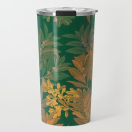 Golden Leaves Travel Mug