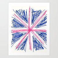 uk Art Prints featuring UK by R.Bongiovani