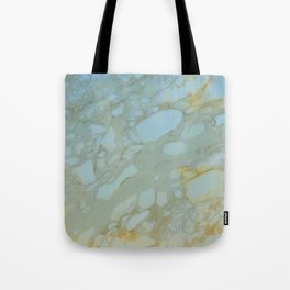 Marble in Blues and Golds, Italian  Tote Bag