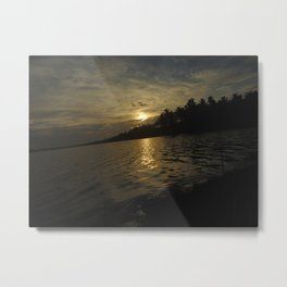 GOLDEN RAYS Metal Print
