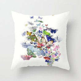A flow of happiness Throw Pillow