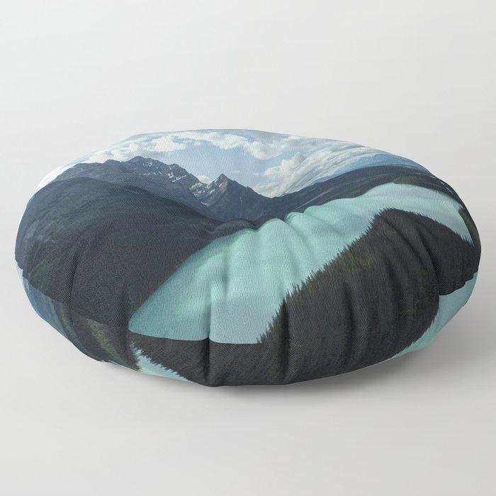Blue Lake Floor Pillow