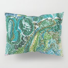 cheerful handmade embroidery in the digital world Pillow Sham