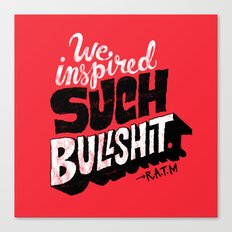 Inspired Bullshit Canvas Print