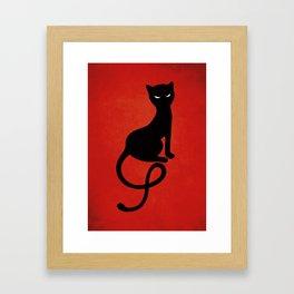 b6fd7b71a by Boriana Giormova. $43.99$35.19. Red Gracious Evil Black Cat Framed Art  Print