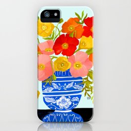 ICELANDIC POPPIES IN VASE iPhone Case