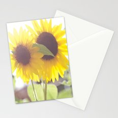 August Sunflower Stationery Cards