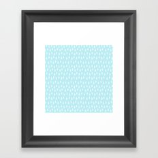 Merry christmas- abstract winter pattern with white trees and snow Framed Art Print