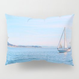 Blue Sailing Pillow Sham