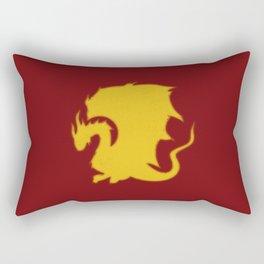 Distressed Pendragon Crest Rectangular Pillow