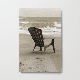 sitting on the beach Metal Print
