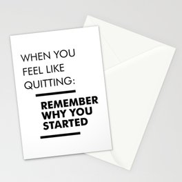 Remember Why You Started - Workout Inspirational Stationery Cards