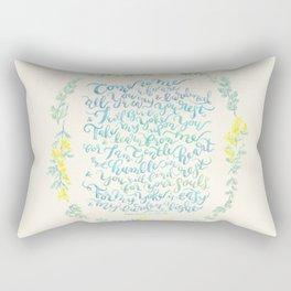 Come to Me - Matthew 11:28-30 Rectangular Pillow