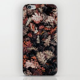 Autumn to winter dry leaves iPhone Skin