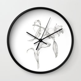 An Orchid with Charisma Wall Clock