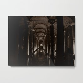 "Basilica Cistern (""Sunken Palace"", Istanbul, TURKEY) Metal Print"