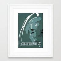fullmetal alchemist Framed Art Prints featuring Fullmetal Alchemist Alphonse Helmet Series   by Cory Payne