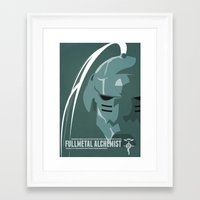 fullmetal Framed Art Prints featuring Fullmetal Alchemist Alphonse Helmet Series   by Cory Payne