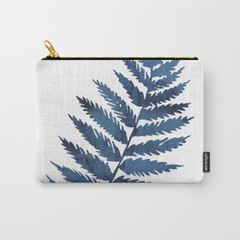 Blue watercolor fern Carry-All Pouch