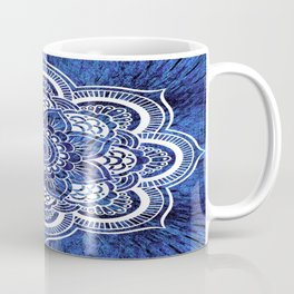 Mandala Blue Colorburst Coffee Mug