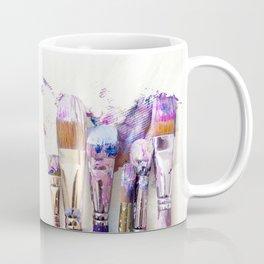 Six Dirty Paintbrushes (Photo) Coffee Mug