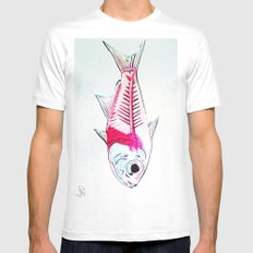 My First Water Color MEDIUM White Mens Fitted Tee
