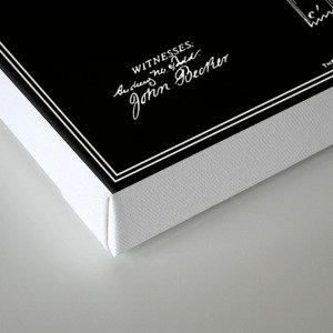 Toilet Paper Roll Patent - Black Canvas Print