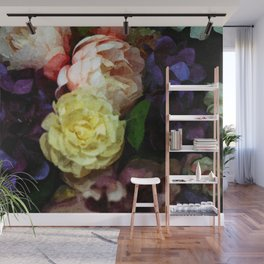 Shabby Chic Flowers Pattern Wall Mural