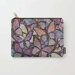 butterflies aflutter rosy pastels version Carry-All Pouch