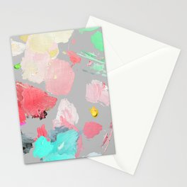 Oil Painting Palette Abstract Pastel Contemporary Stationery Cards