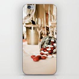 CELEBRATE (STILL LIFE - Wine Glasses - M&M's - Zinc Bucket) iPhone Skin
