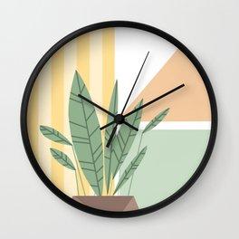 Geometric plant Wall Clock