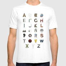 Alfabeto malagueño © White Mens Fitted Tee MEDIUM
