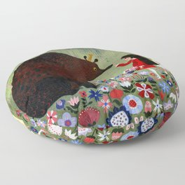 Rose Red and Snow White #1 Floor Pillow