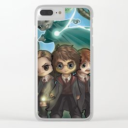 Harry.Potter and the final battle Clear iPhone Case