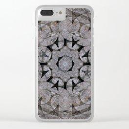 Gothic Romanesque Stone Architecture Mandala Pattern Clear iPhone Case