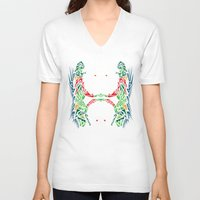 tigers V-neck T-shirts featuring Tigers #2 by Ornaart