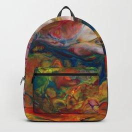 Multicolor Clouds Lava Flow Backpack