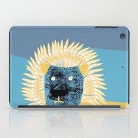 leon iPad Cases featuring Lion leon by yael frankel