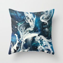 School of Celestial Guardians Throw Pillow
