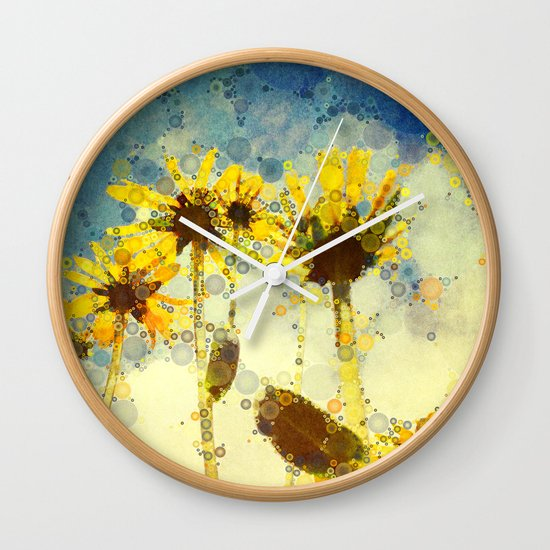 Her Thoughts Were Happy and So Was Her Life Wall Clock
