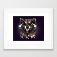 rocket raccoon Framed Art Prints featuring Rocket by Fhari