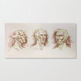 Head Study Turnaround Canvas Print