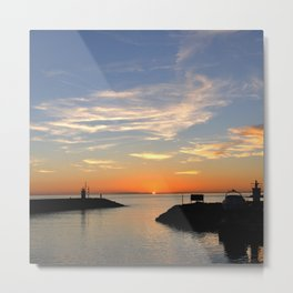 The last moment of the day. Metal Print