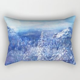 Blue Land II Rectangular Pillow