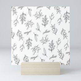 Falling Foliage - in black and white Mini Art Print
