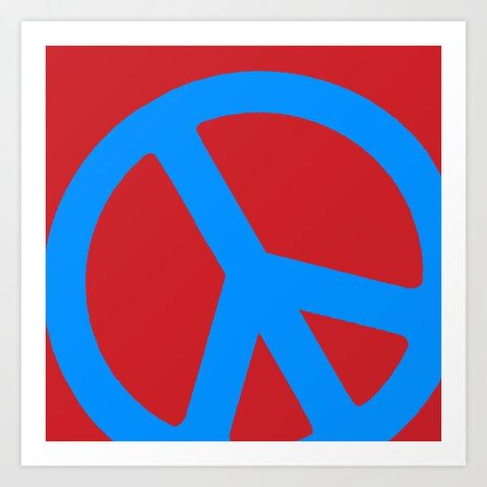 Blue Peace  Art Print