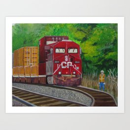 CP Train and Worke Art Print