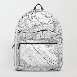 Portland Map White Backpack